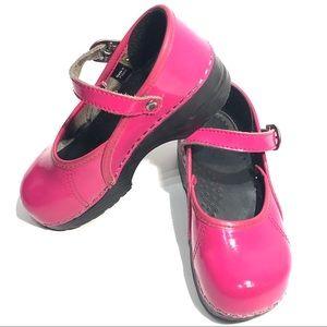 Dansko Pink Mary Jane Shoes Girls Buckle Strap